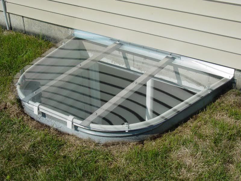 Complete Egress Window Kit White Window Well Window