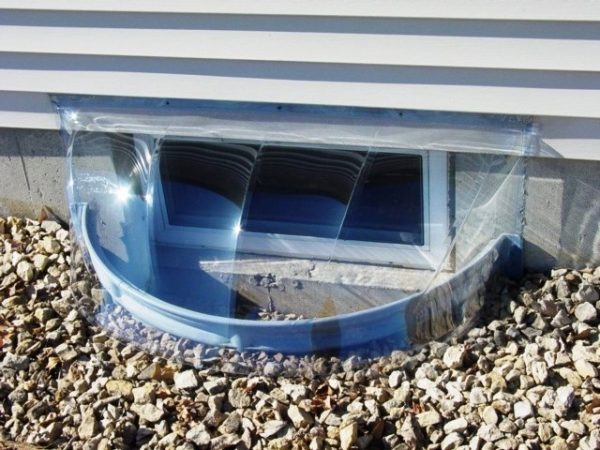 38 X 17 Bubble Window Well Cover 2 Heights Available Polycarbonate