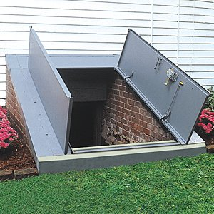 Bilco classic series basement door for sloped walls for Adding exterior basement entry