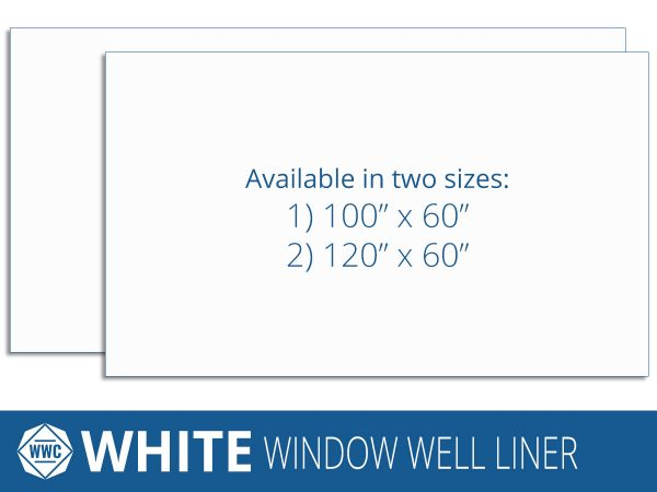 White Window Well Liner