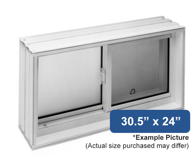 30 5 x 24 vinyl slider basement window buy online for Buy vinyl windows online