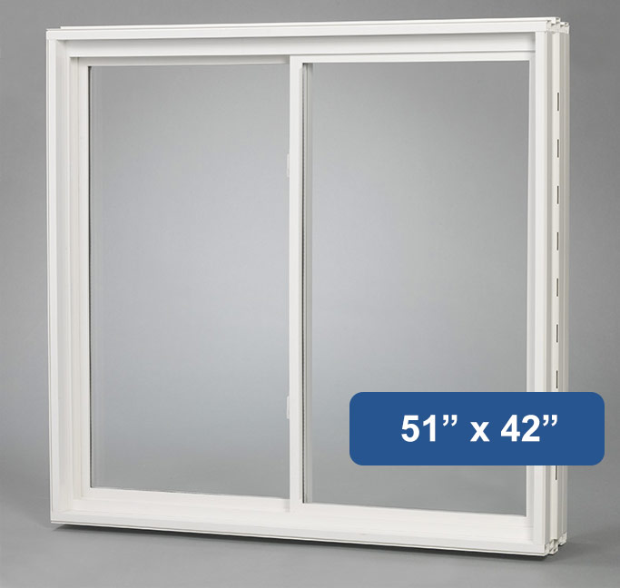 51 x 42 vinyl slider basement window buy online for Vinyl windows online