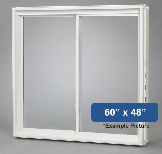 60 x 48 vinyl slider basement window buy online for Vinyl windows online