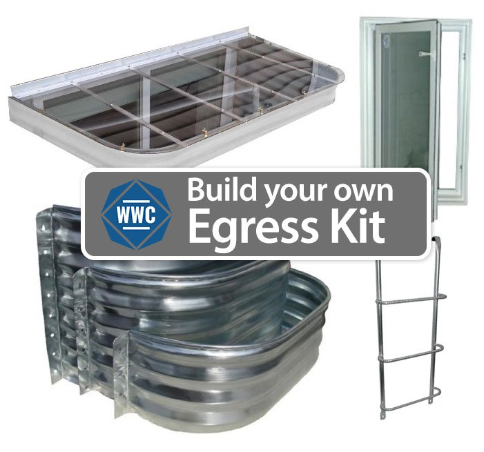 Build your own egress window kit window well covers for Build your own window