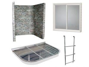 Egress Window Kits Code Compliant Window Well Ladder