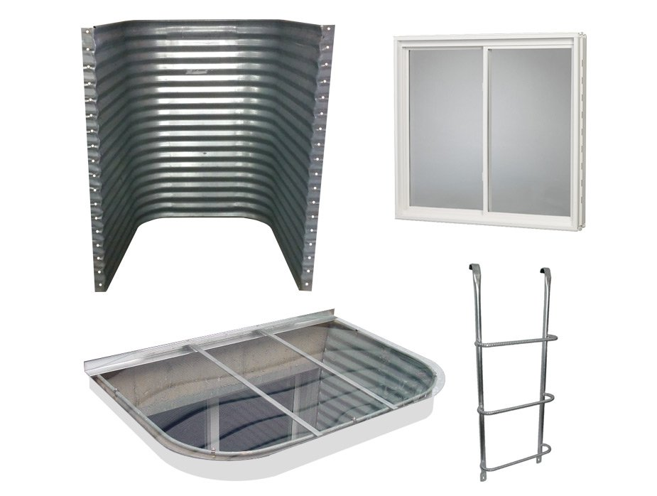 galvanized window well complete egress window kit galvanized steel well 1190