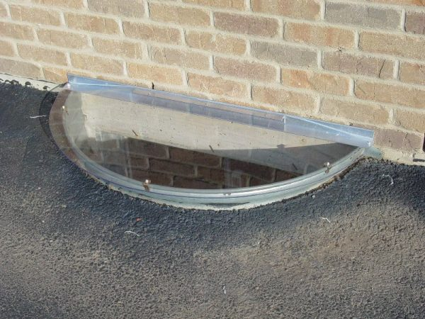 """36"""" x 17"""" - Sloped Window Well Cover - Semicircle"""