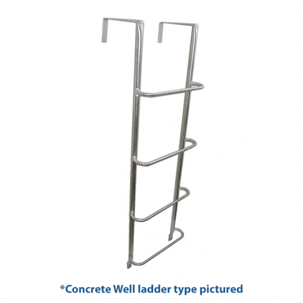 Example of an egress ladder for concrete, brick or timber wells