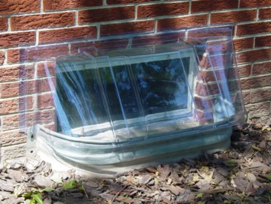 elongated bubble dome plastic window well cover 43x14x24