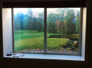 Window Well Liners - Customer installed Fairway Scene