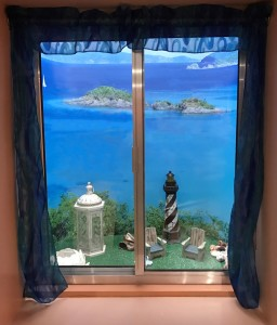 Window Well Liners - Customer installed Island Cove Scene