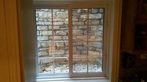 Window Well Liners - Customer installed Faux Stone Scene