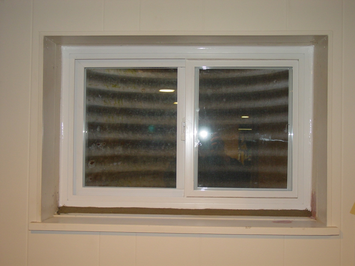 Basement casement window replace a for Picture window replacement ideas
