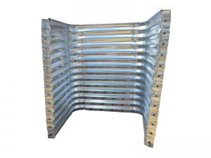 galvanized rectangular egress well