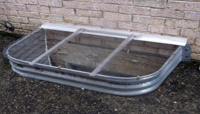 sloped polycarbonate window well cover
