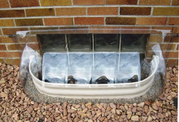 bubble dome window well cover in size 43x14x15